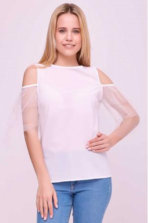 Блуза «Клоді» білого кольору