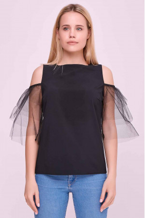 Блуза «Клоді» чорного кольору