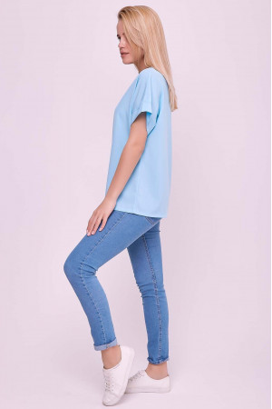 Блуза «Оливия» голубого цвета