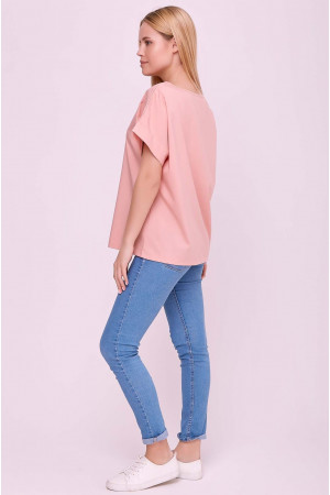 Блуза «Оливия» цвета пудры