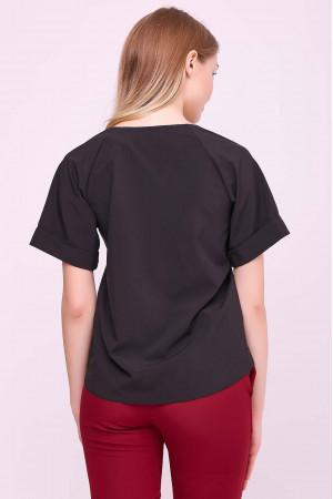 Блуза «Рина» черного цвета