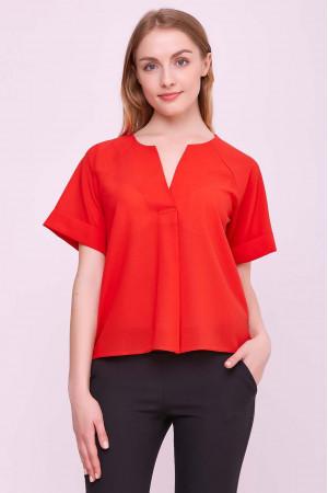 Блуза «Ріна» червоного кольору