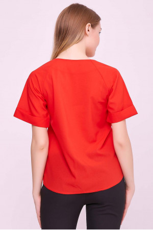 Блуза «Рина» красного цвета