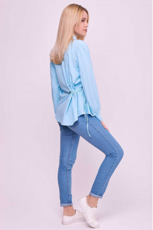 Блуза «Алвена» блакитного  кольору