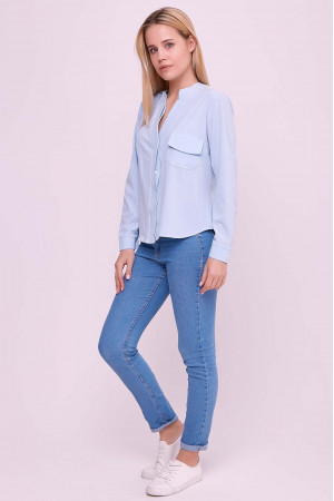 Блуза «Лексия» голубого цвета