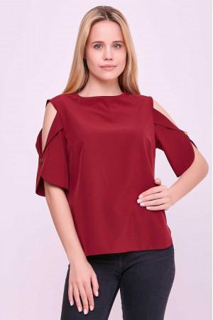 Блуза «Антонія» бордового кольору