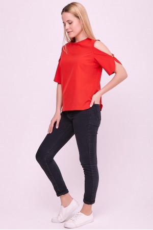 Блуза «Антонія» червоного кольору