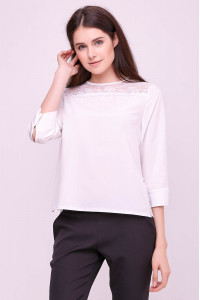 Блуза «Винтер» белого цвета