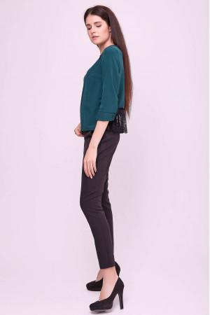 Блуза «Винтер» зеленого цвета