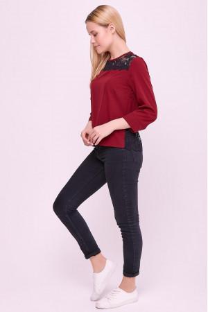 Блуза «Вінтер» бордового кольору