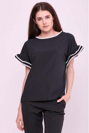 Блуза «Гармония» черного цвета