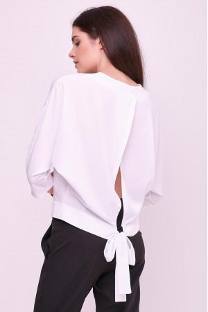 Блуза «Глорія» білого кольору