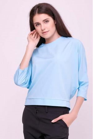 Блуза «Глория» голубого цвета