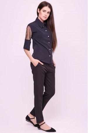 Блуза «Дамія» чорного кольору