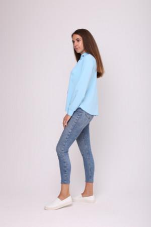 Блуза «Монта» голубого цвета