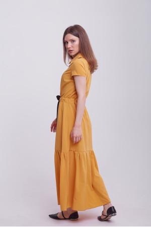 Платье «Агнесса» горчичного цвета