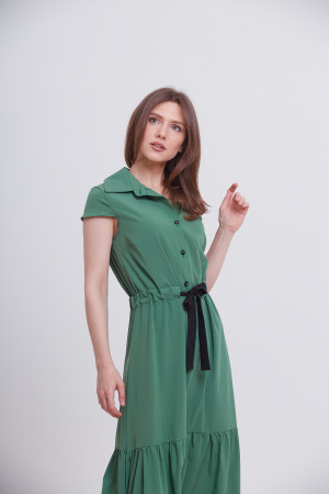 Платье «Агнес» зеленого цвета