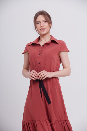 Платье «Агнес» терракотового цвета