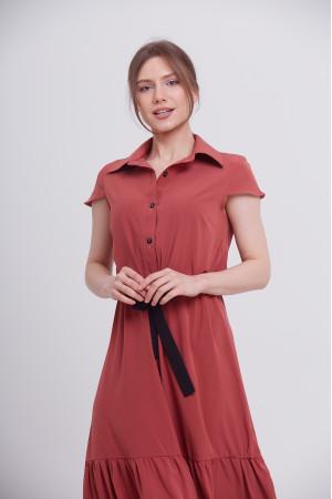 Сукня «Агнес» теракотового кольору