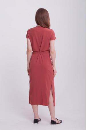 Платье «Бенедикта» терракотового цвета