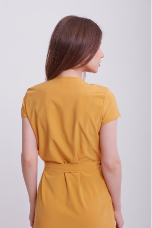 Платье «Бенедикта» горчичного цвета