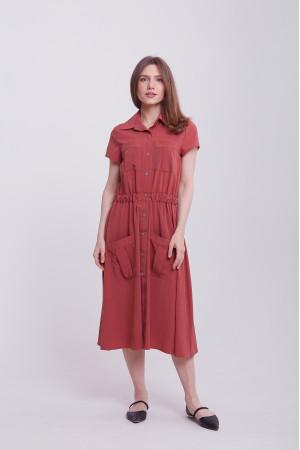 Сукня «Гейл» теракотового кольору
