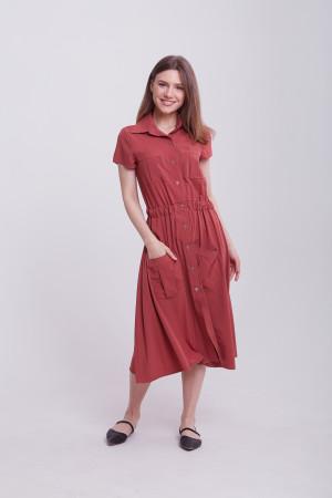 Платье «Гэйл» терракотового цвета