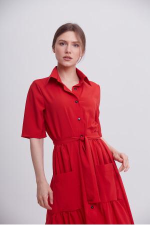 Платье «Джасти» красного цвета