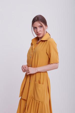Платье «Джасти» горчичного цвета