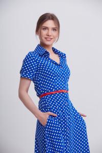 Платье «Ольга» цвета электрик