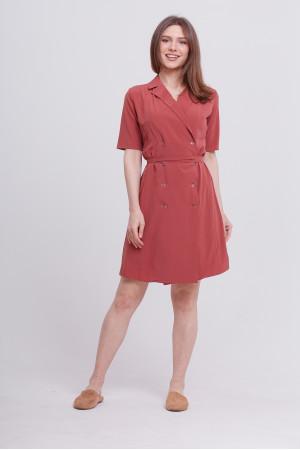 Платье «Карли» терракотового цвета