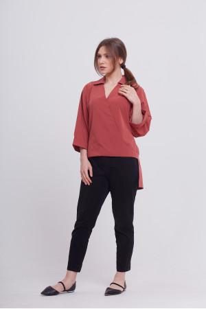 Блуза «Рая» теракотового кольору