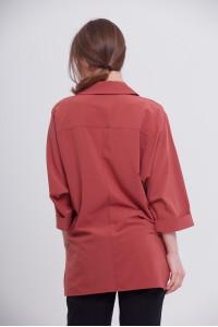 Блуза «Рая» терракотового цвета