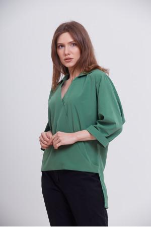 Блуза «Рая» зеленого цвета