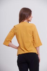 Блуза «Лидия» желтого цвета