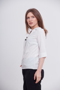 Блуза «Лидия» белого цвета