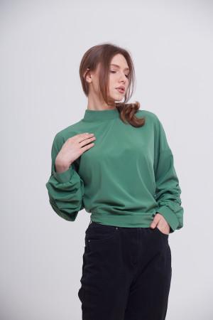 Блуза «Теата» зеленого цвета