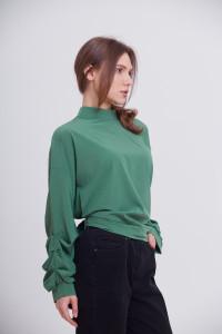 Блуза «Теата» зеленого кольору