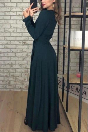 Платье «Каролина» изумрудного цвета