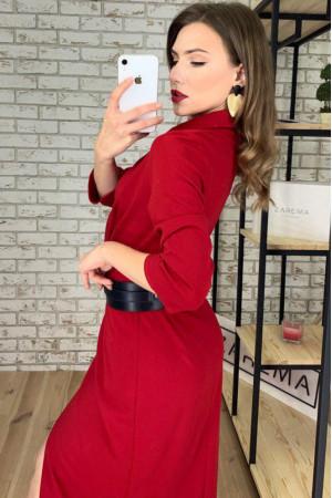 Платье-жакет «Нора» красного цвета