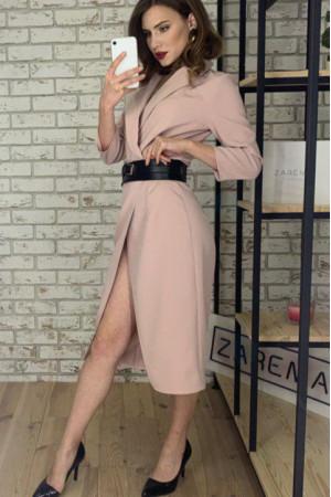 Сукня-жакет «Нора» кольору пудри