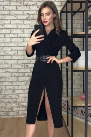 Платье-жакет «Нора» черного цвета
