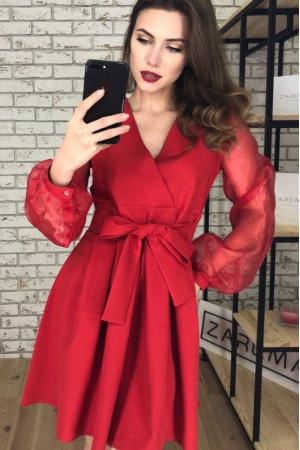 Платье «Эрика» красного цвета
