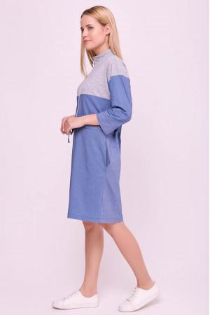 Сукня «Латіша» сіро-блакитного кольору