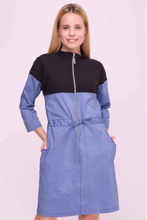 Сукня «Латіша» чорно-блакитного кольору