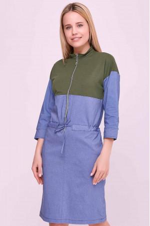 Сукня «Латіша» зелено-блакитного кольору