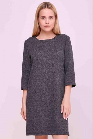 Платье «Верна» темно-серого цвета