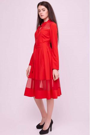 Платье «Завия» красного цвета