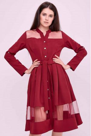 Сукня «Завія» бордового кольору