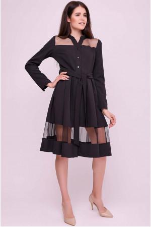 Платье «Завия» черного цвета